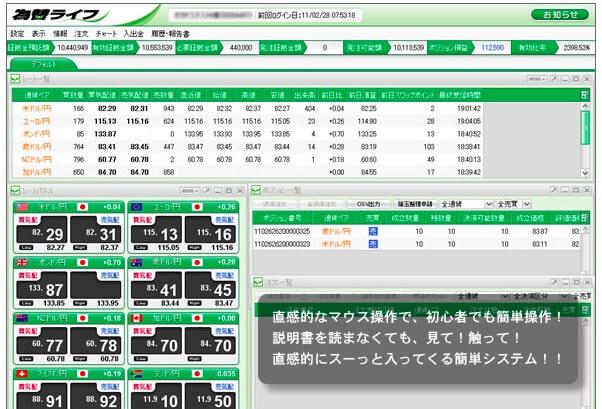 為替ライフ(岡安商事)チャート取引システム